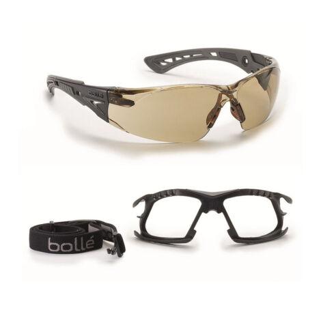 Bollé Rush+ Twilight P+ védőszemüveg szett