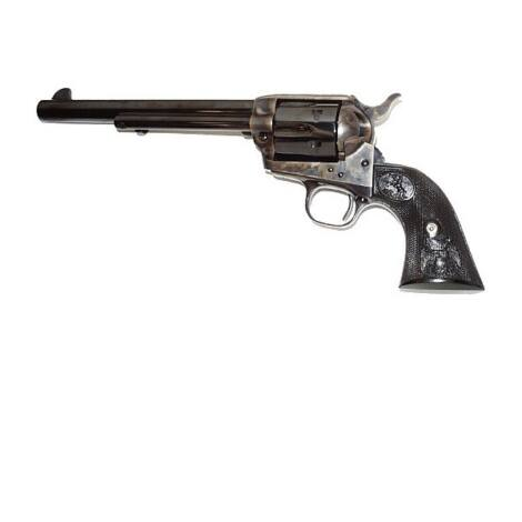 "Colt Single Action Army 7.5"" .45 Long Colt Case Nickel revolver"