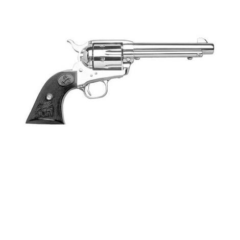 "Colt Single Action Army 5.5"" .45 Long Colt Case Nickel revolver"