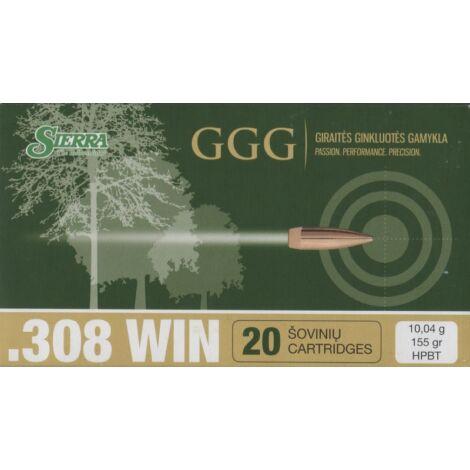 GGG .308Win HPBT Sierra Match King 155gr lőszer