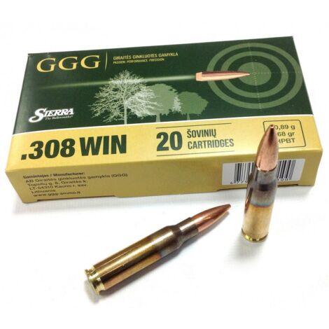 GGG .308Win HPBT Sierra Match King 168gr lőszer