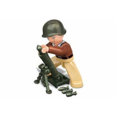 Sluban II. világháborús amerikai ágyús katona minifigura