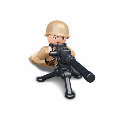 Sluban II. világháborús francia géppuskás katona minifigura