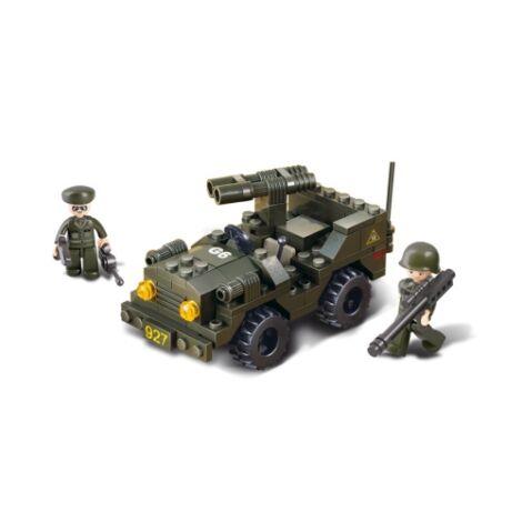 Sluban jeep rakétavetővel építő játék