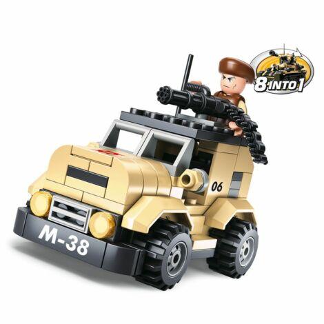 Sluban katonai jármű építő játék