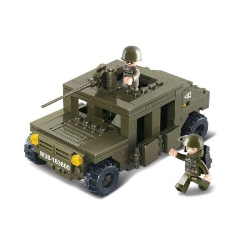 Sluban páncélozott jeep építő játék