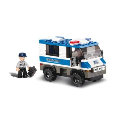 Sluban rendőrautó építő játék