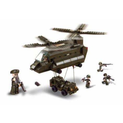 Sluban szállító helikopter építő játék