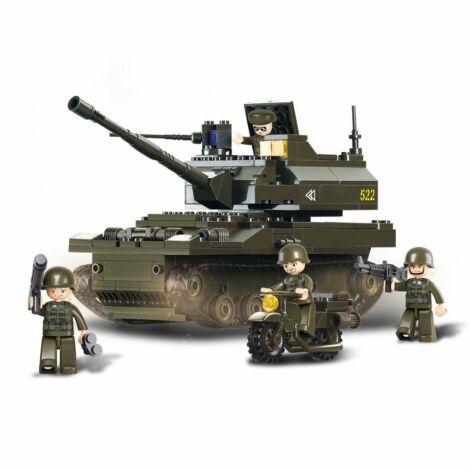Sluban tank és motor építő játék