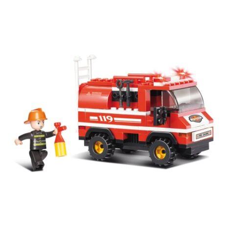 Sluban tűzoltó autó építő játék