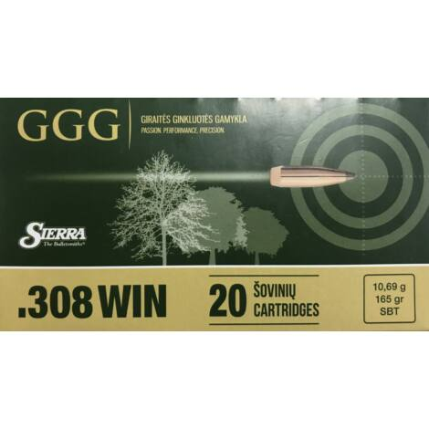 GGG .308Win SBT Sierra Match King 165gr lőszer